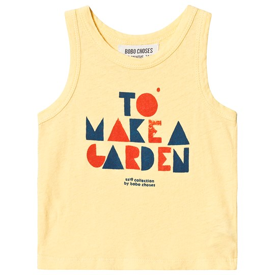 Bobo Choses Geometric Linen Tank Top Mellow Yellow Mellow Yellow