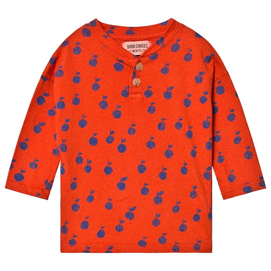 Bobo Choses Apples Buttons T-Shirt Red Clay Red Clay