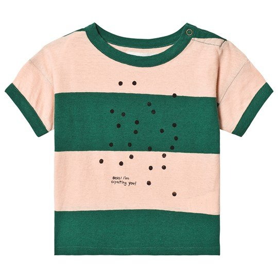 Bobo Choses Bees Linen T-Shirt Rose Dust Rose Dust