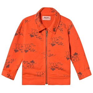 Image of Bobo Choses Tangerine Zip Sweatshirt Red Clay 24-36 mdr (1252603)