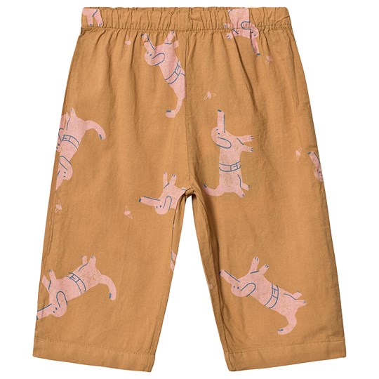 Bobo Choses Dogs Baggy Pants Brown Sudan Brown