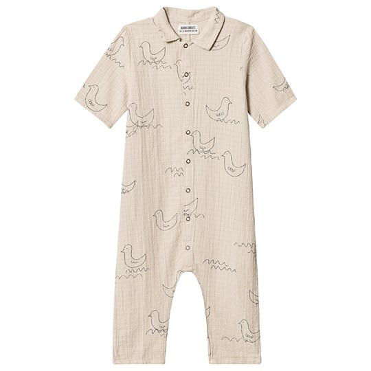 Bobo Choses Geese Buttons Jumpsuit Feather Grey Feather gray