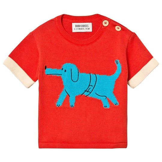 Bobo Choses Paul's Dog Sweater Red Clay Red Clay