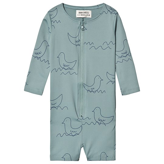 Bobo Choses Geese Swimsuit Green Mellow Yellow