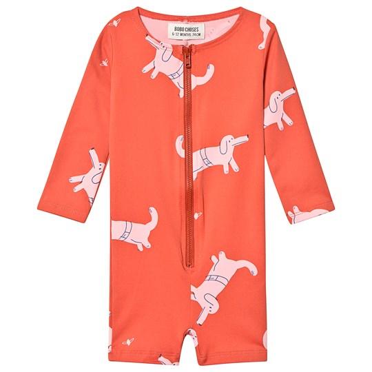 Bobo Choses Dogs Swimsuit Red Clay Red Clay