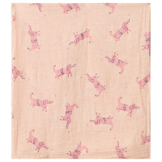 Bobo Choses Dogs Muslin Cloth Rose Dust Rose Dust