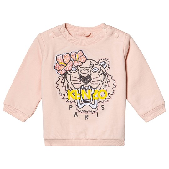 Kenzo Light Pink Embroidered Tiger Sweatshirt 32