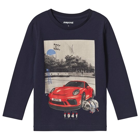 Navy Car Long Sleeve Tee - Mayoral - Babyshop c3b73368644ae
