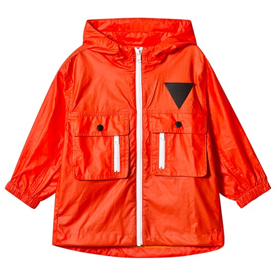 Stella McCartney Kids Orange Pockets Raincoat 7665 - Sunrise