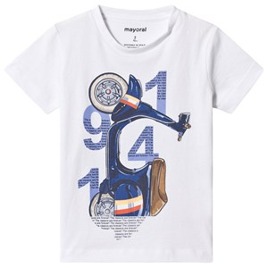 Image of Mayoral White Scooter Print Tee 5 years (3125333677)