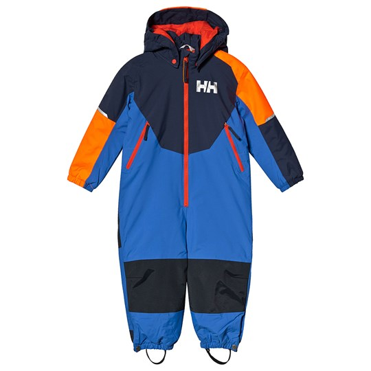 191fc280f Helly Hansen - Blue Colorblock Rider Insulated Kids Ski Suit ...