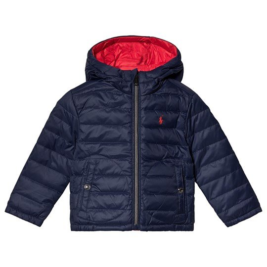 Ralph Lauren Navy and Red Reversible Down Hooded Jacket 001