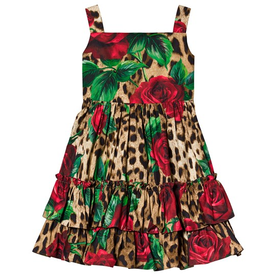 Dolce & Gabbana Leopard and Rose Print Dress HKIRS