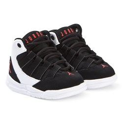 Air Jordan Black and White Air Jordan Max Aura Infants Hi Tops