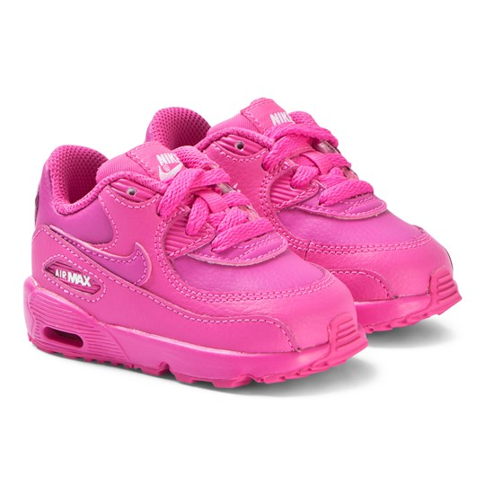 buy popular 91dd3 fc71d NIKE Pink Nike Air Max 90 Leather Infants Sneakers 603