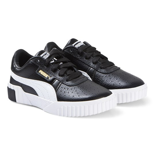 Puma Cali Branded Trainers Black/Gold Gold