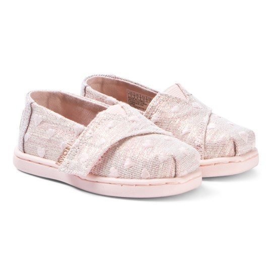 Toms Rose Gold Heartsy Twill Tiny TOMS Classics Pink