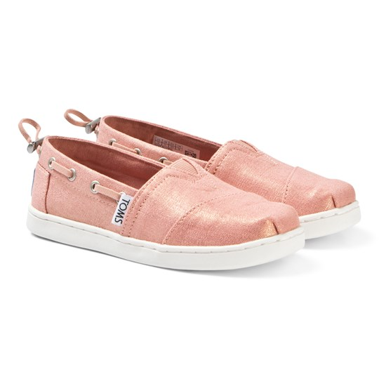 Toms Coral Pink Shimmer Canvas Youth Biminis Pink