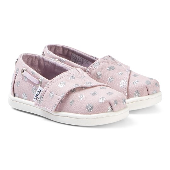 Toms Burnish Lilac/Metallic Torn Dots Tiny TOMS Biminis Pink
