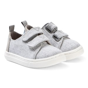 Image of Toms Drizzle Grey Slub Chambray Tiny TOMS Lenny Sneakers 26 (UK 8) (3125259857)