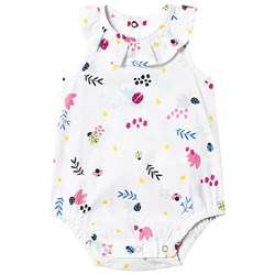 Catimini Floral Woven Baby Body White