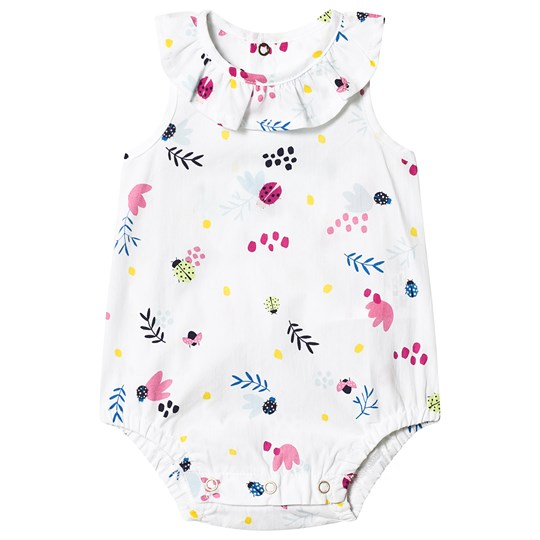 Catimini Floral Woven Baby Body White 01