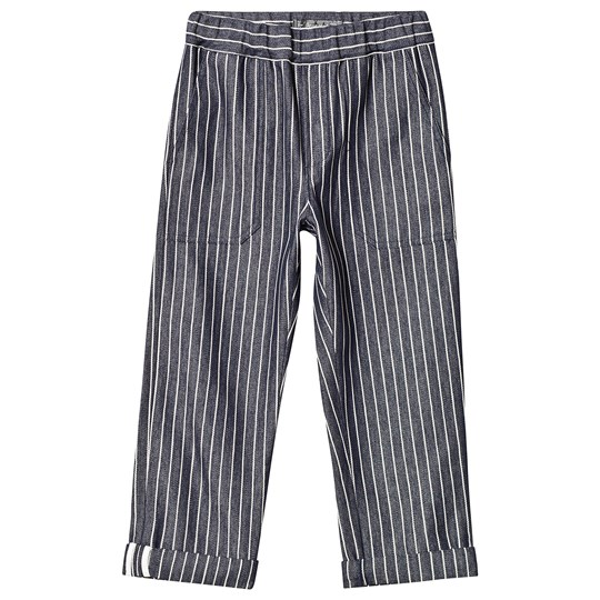 Bonpoint Navy and White Stripe Cotton Pants 276