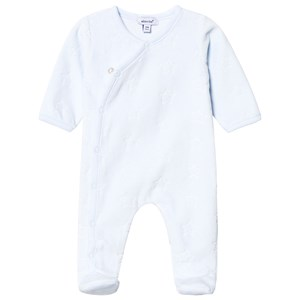Image of Absorba Pale Blue Stars Footed Baby Body 12 months (3125316851)
