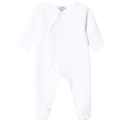 Absorba White Quilted Footed Baby Body