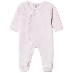 Absorba Pale Pink Quilted Footed Baby Body
