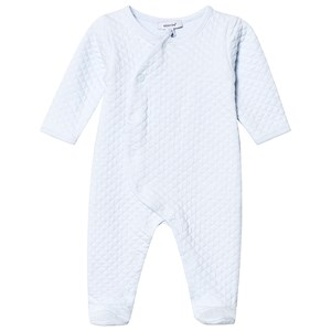 Image of Absorba Pale Blue Quilted Footed Baby Body Newborn (3125316659)