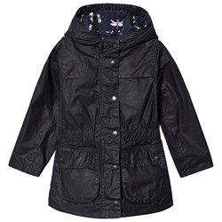 Barbour Navy Hamlet Wax Jacket