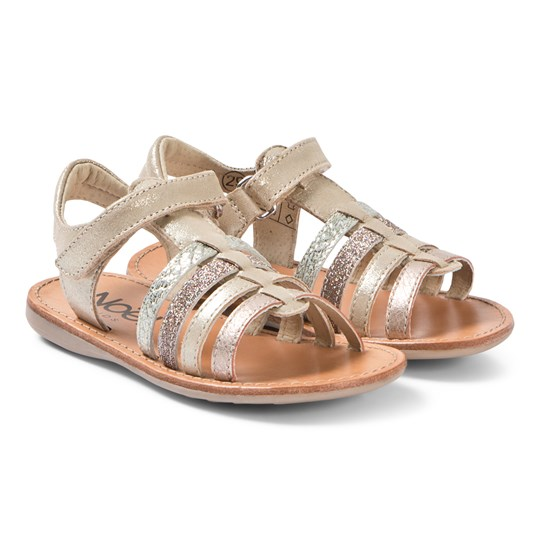 Noël Sydni Leather Sandals Gold Multi 108