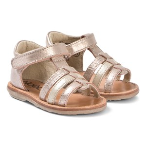 Image of Noël Mini Servi Strappy Sandals Rose Gold 21 (UK 4.5) (3125272339)