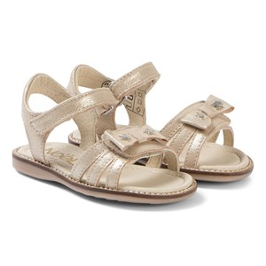 Image of Noël Siam Bow Leather Sandals Gold 24 (UK 7) (1225131)