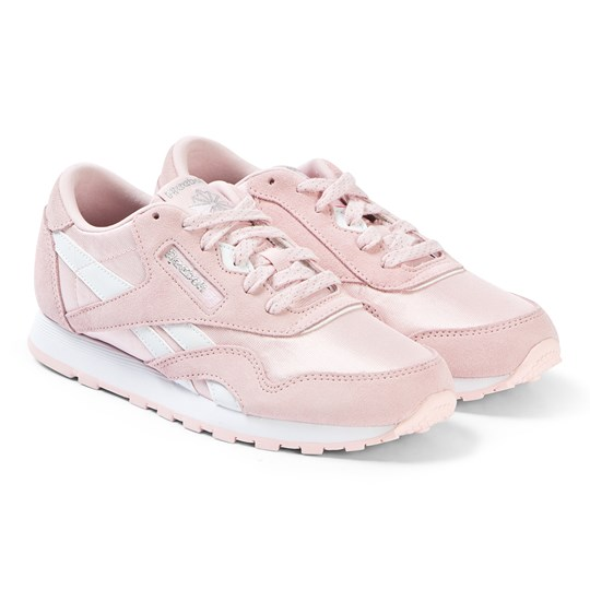 Reebok Pink Classic Nylon Sneakers LP-PRACTICAL PINK/WHITE/SILVER