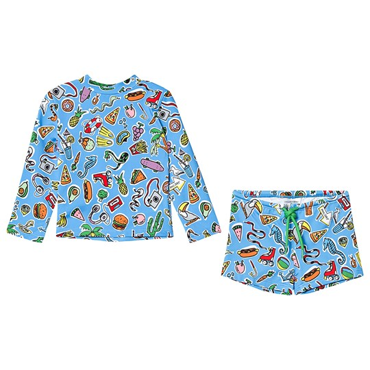 Stella McCartney Kids Toys and Food Swim Set Blue 4861 - Toys&Food Aop Blue