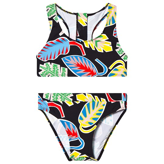 Stella McCartney Kids Black Palm Leaf Bikini 1074 - Summer Palm Leaf Blk