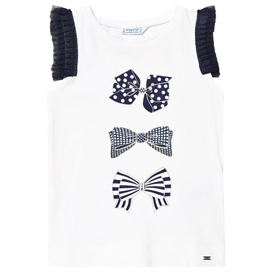 Mayoral Navy Blue Bow T-Shirt 89