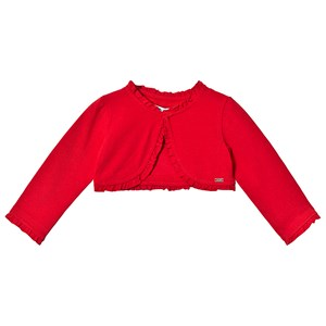 Image of Mayoral Red Ruffled Cardigan 6 months (3125337397)