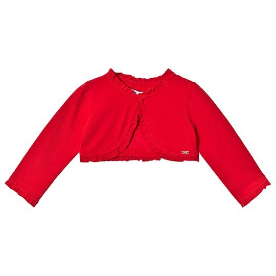 Mayoral Red Ruffled Cardigan 75