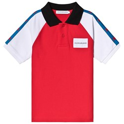 Calvin Klein Jeans Red and White Stars Pique Polo