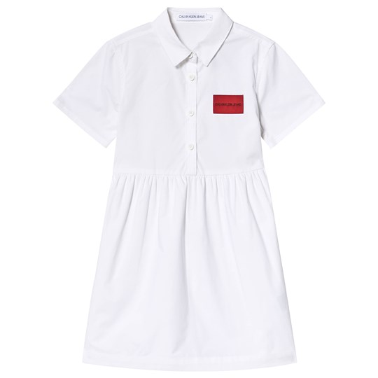 Calvin Klein Jeans White Logo Shirt Dress 100