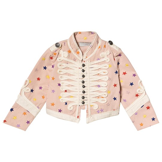 Stella McCartney Kids Pink Multicolor Embroidered Star Jacket 6842 - Multicolor Stars 1