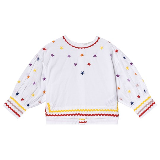 Stella McCartney Kids White Star Embroidered Blouse 9094 - Embr Multicol Stars