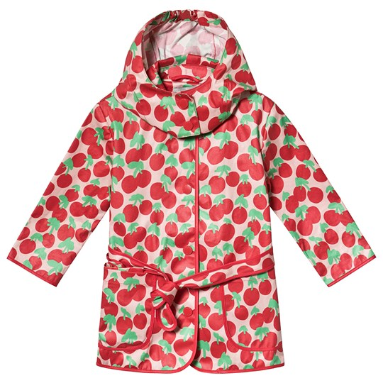 Stella McCartney Kids Red Cherry All Over Print Polly Coat 6642 - Cherry Spot On 1base