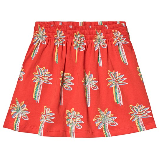 Stella McCartney Kids Red Palm All Over Print Skirt 6563 - Graphic Palm On Red