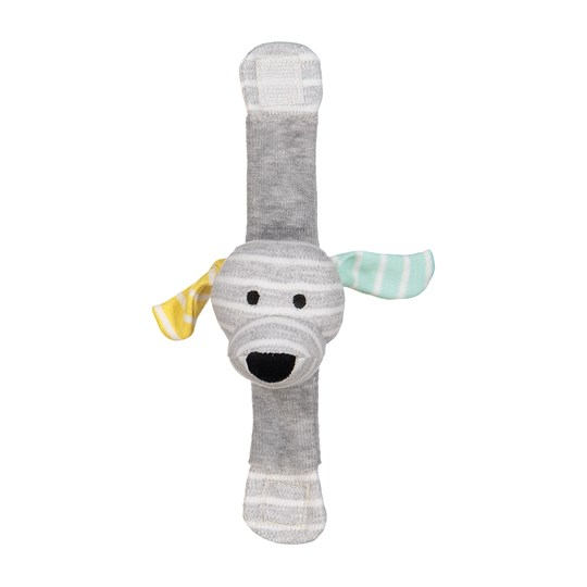 Geggamoja Doddi Wrist Rattle Light Grey Melange Light grey mel