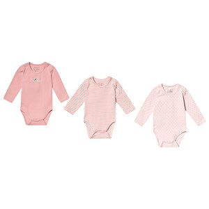 Image of Hust&Claire 3-Pack Base Baby Bodies Pink 56 cm (1-2 mdr) (3125318535)