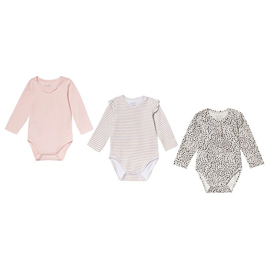Hust&Claire 3-Pack Baby Bodies White White